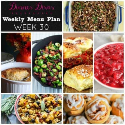 Dinner Divas Weekly Meal Plan, Week 30: Thanksgiving Sides Edition