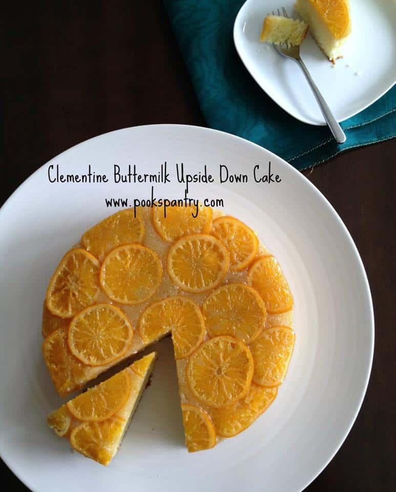 clementine buttermilk upside down cake