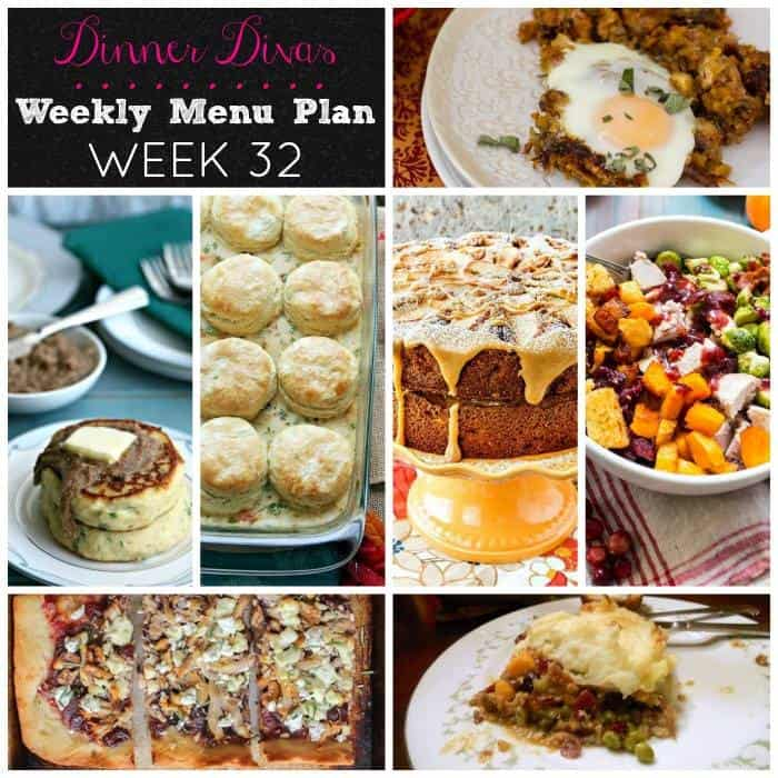Dinner Divas Weekly Meal Plan: 6 genius Thanksgiving Leftovers recipes. Plus a cake. You won't want to miss this one!