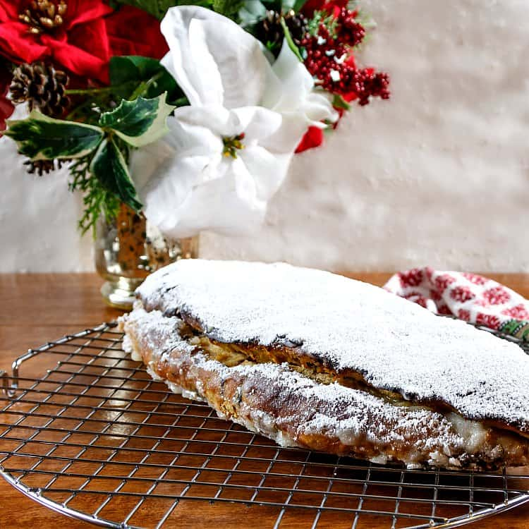Thanks, Idaho Potato Commission, for partnering with me to make this amazingly flavorful, soft, and delicious traditional Christmas stollen. The mixture of fruits and spices is flavorful but not overpowering, and the potatoes keep the stollen nice and fresh for days. If you're looking for a great stollen recipe, your search is over! Enjoy! | pastrychefonline.com