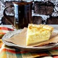 Traditional Coconut Custard Pie