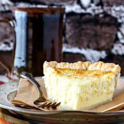 Traditional Coconut Custard Pie | The Epicurean Review and Giveaway