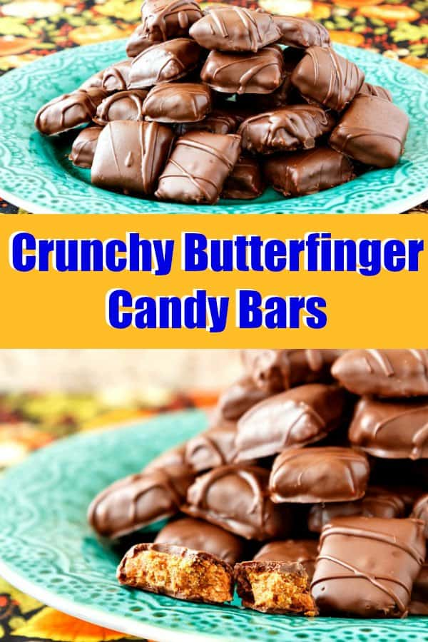 If you have ever been disappointed by a soft, almost chewy copycat Butterfinger recipe, this recipe will save you. Crunchy and layered, just like the way you buy them at the store, these crunchy Butterfinger candy bars are the answer to a Butterfinger lover's prayers! #copycatrecipes #butterfinger