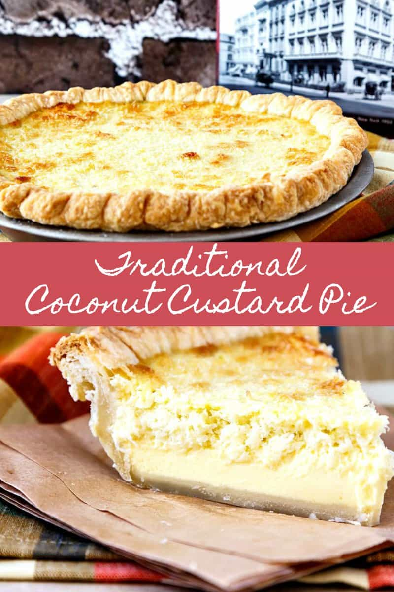 Coconut custard pie is smooth and creamy with a chewy layer of coconut on top. The perfect comfort food dessert, you'll love this homey, easy pie recipe! #coconut #pierecipes | pastrychefonline.com