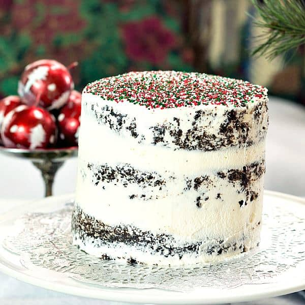 vegan chocolate christmas cake