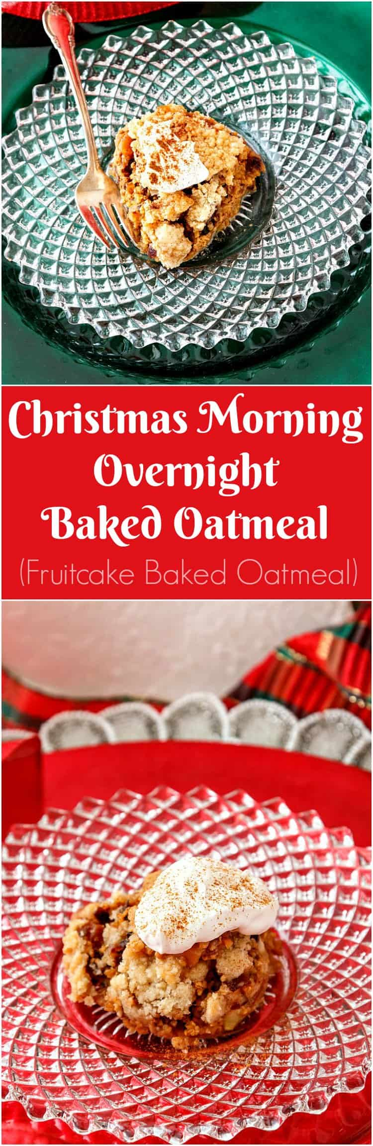 These Overnight Fruitcake Baked Steel Cut Oats are flavored with the same spices The Beloved uses in his fruitcake. Same mix of dried fruits, too. An easy, warming, make-ahead Christmas morning breakfast! | pastrychefonline.com