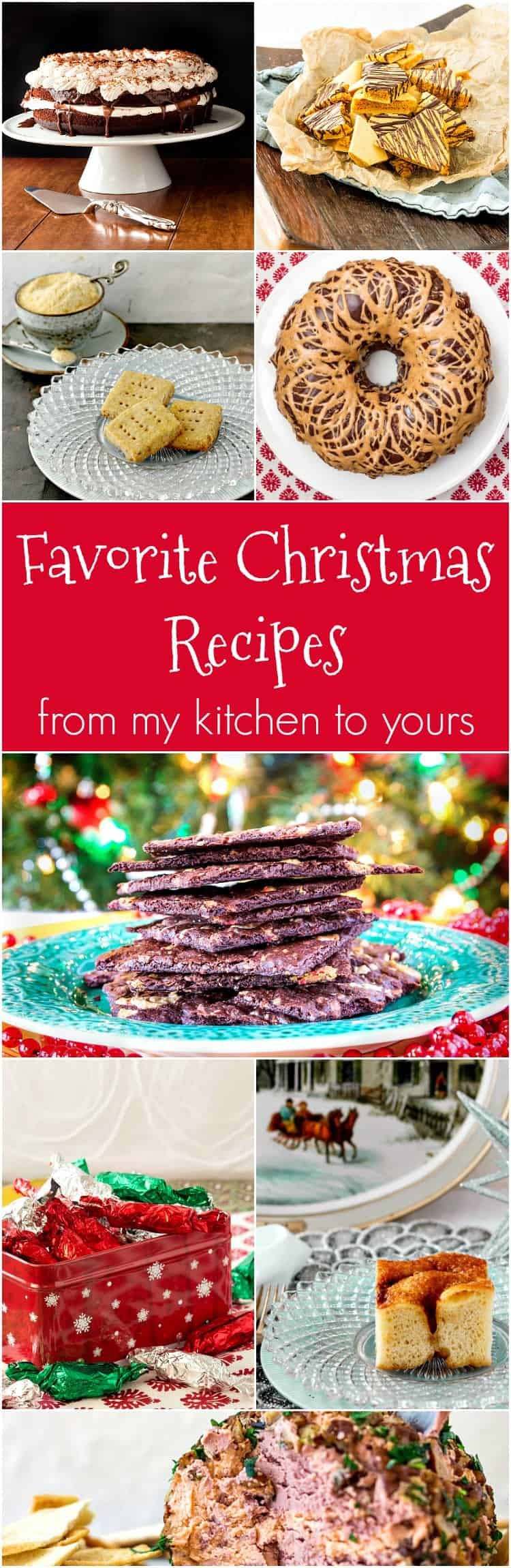 I hope you enjoy this collection of favorite christmas recipes. Some are for party favorites, and many are for desserts and sweets. And gifting! Enjoy!