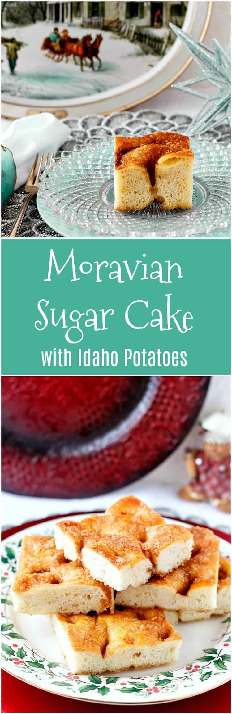 Moravian Sugar Cake with Idaho Potatoes | Best Christmas Coffee Cake