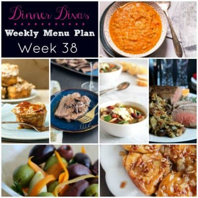 Dinner Divas Weekly Meal Plan, Week 38 | 5 Mains, 2 Extras