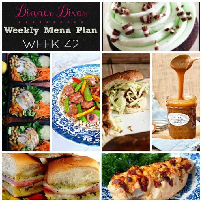 Dinner Divas weekly meal plan post for Week 42. Enjoy!