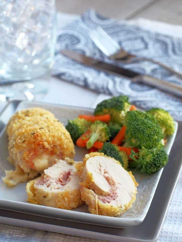 baked chicken cordon bleu