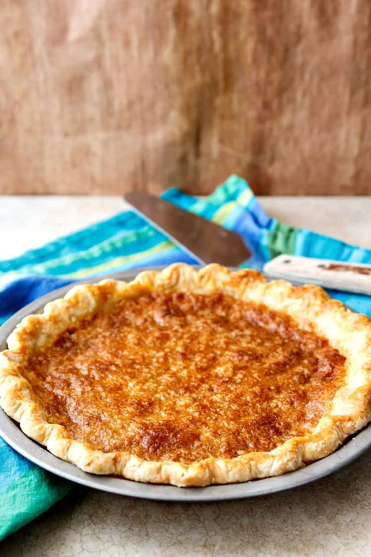 A beautiful heritage pie with an unlikely name, one bite of vinegar pie, and I bet you'll be a convert! | pastrychefonline.com