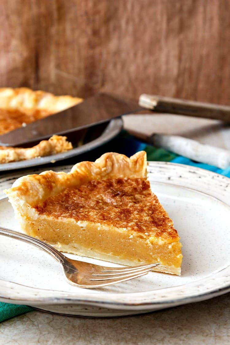 But you can't use vinegar in a pie and have it taste good! Yeah you can. You will love the sweet and just-tart-enough flavor of vinegar pie. | pastrychefonline.com
