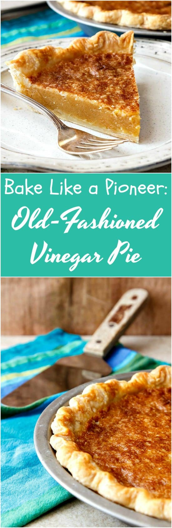 If you're in need of pie but don't have much time or much in your fridge that seems pie worthy, give this vinegar pie a try. It's sweet and mildly tart like a nice lemon pie, and I can almost bet you have everything you need to make it in your kitchen and pantry right now. Enjoy! | pastrychefonline.com
