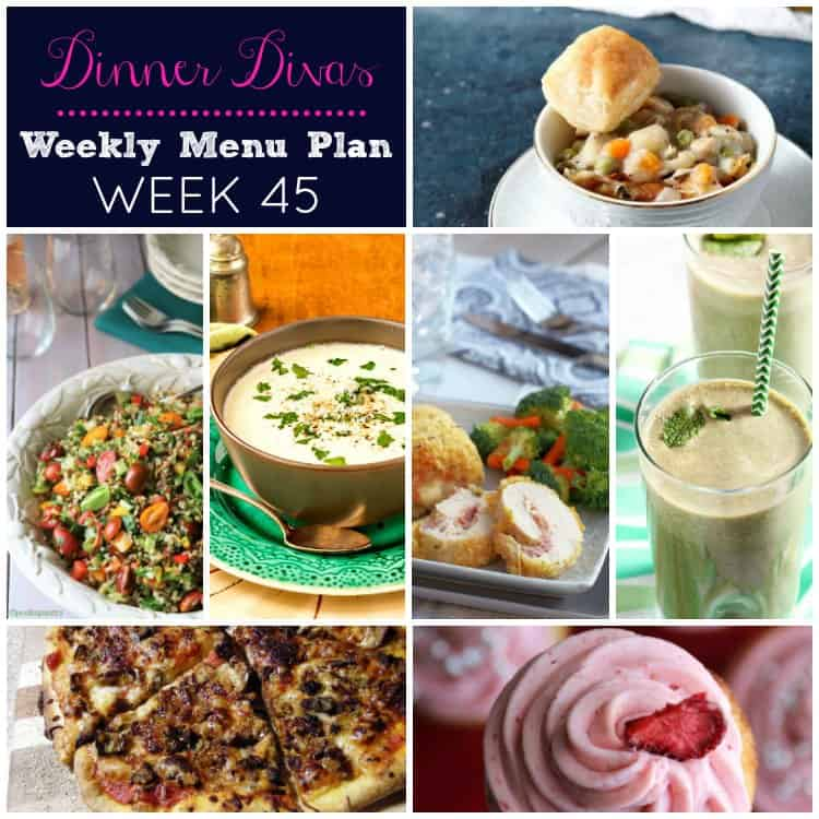 dinner divas weekly meal plan for week 45. We hope this makes your meal planning life just a bit easier. Enjoy!