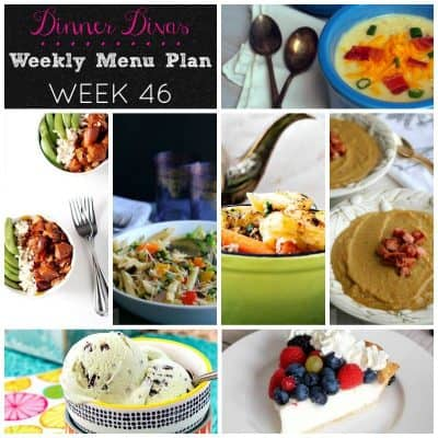 Dinner Divas Weekly Meal Plan, Week 46 | 5 Mains, 2 Extras