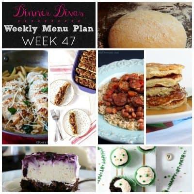 Dinner Divas Weekly Meal Plan, Week 47 | 5 Mains, 2 Extras