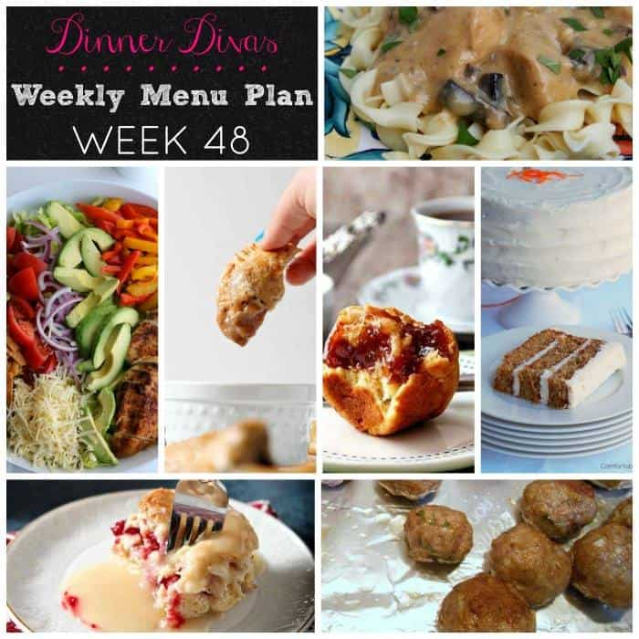 Dinner Divas weekly meal plan for week 48. Filled with comfort and some healthy goodness. Plus cake and brioche! Enjoy! | pastrychefonline.com