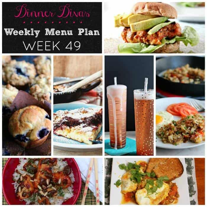 dinner divas weekly meal plan for week 49. Grab your pen and make your shopping lists. We are here to make your menu planning just a bit easier! | pastrychefonline.com