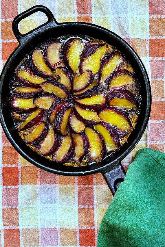 Mother Leavee's plum kuchen