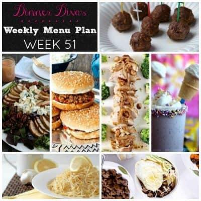 Dinner Divas Weekly Meal Plan, Week 51 | 5 Mains, 2 Extras