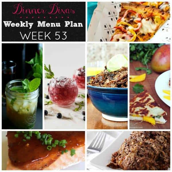 dinner divas weekly meal plan for week 53. It's a good one, friends. Do not miss it!