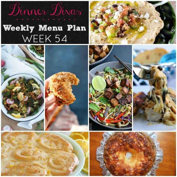 dinner divas weekly meal plan for week 54