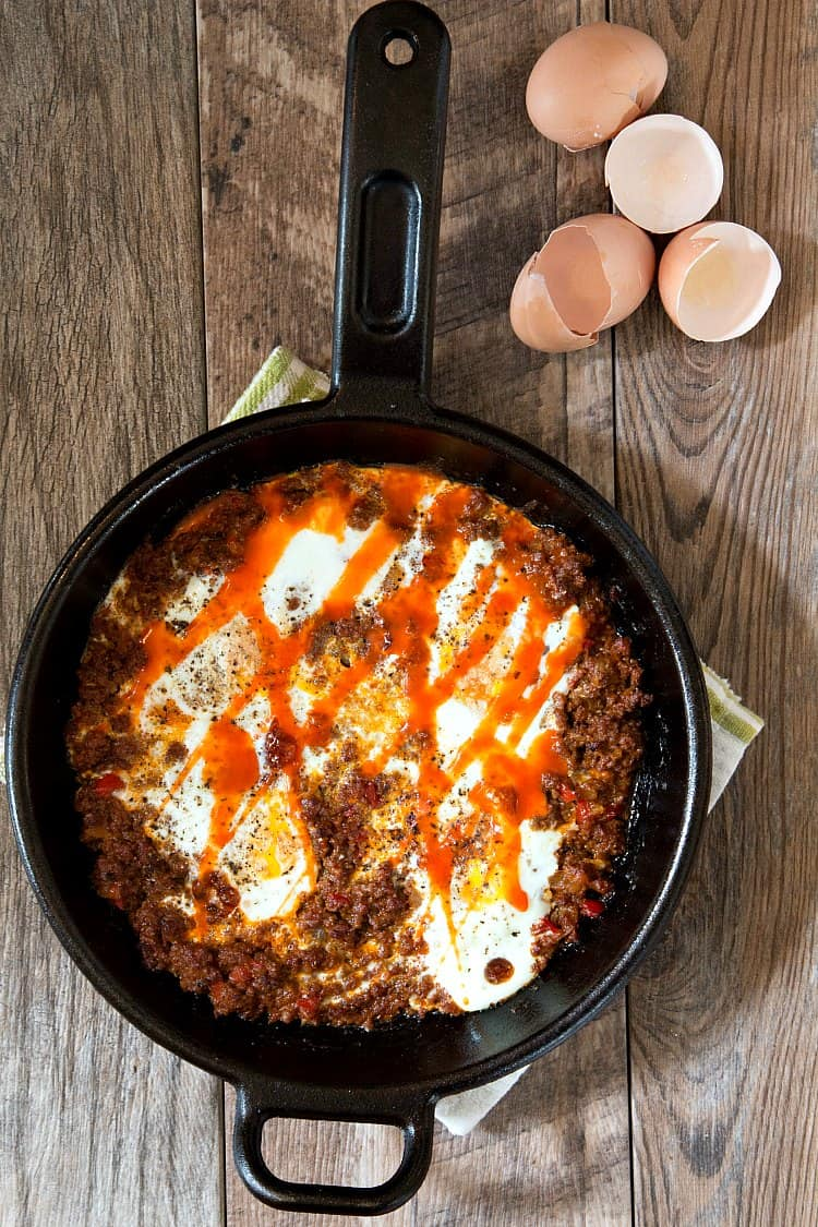 Heat leftover sloppy joe meat, crack in some eggs, and voila, you have another serving option for breakfast, brunch or breakfast-for-dinner!
