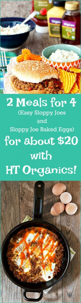 For about $20, you can enjoy two different meals for four featuring a bounty of organic ingredients from HT Organics at Harris Teeter. Easy sloppy joes and sloppy joe egg bake. Weekend meals: sorted! #sponsored | pastrychefonline.com