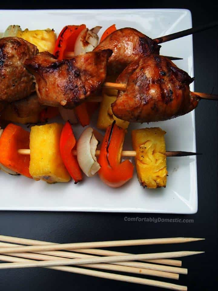 soy ginger chicken kabobs
