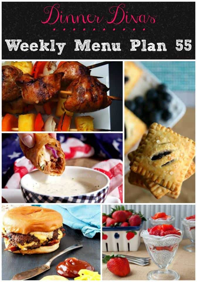 dinner divas weekly meal plan post for week 55