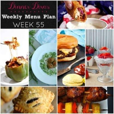 Dinner Divas Weekly Meal Plan, Week 55 | 5 Mains, 2 Extras