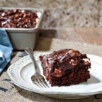 Chocolate Mayonnaise Cake with Rocky Road Sour Cream Frosting