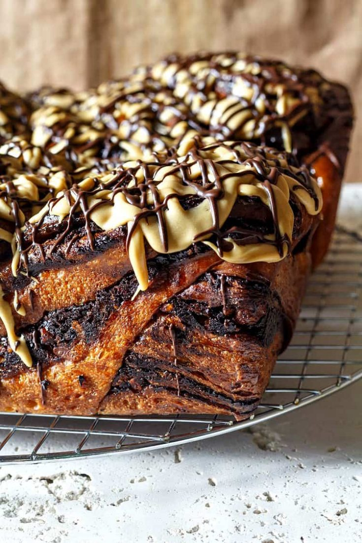 Bittersweet Chocolate Babka with Pecans