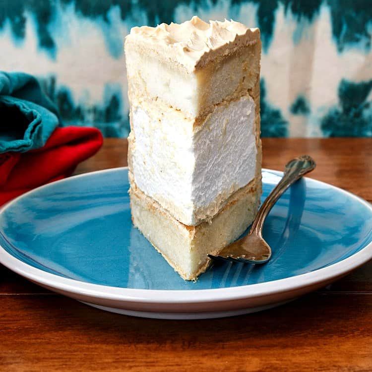 I saved a piece of this peanut butter marshmallow fluff cake for you! Your kids might want it, but I won't make you share!
