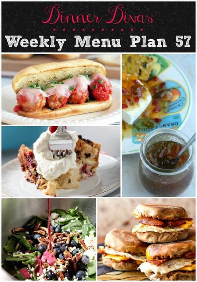 pinnable long image of the recipes for the weekly meal plan for Week 57
