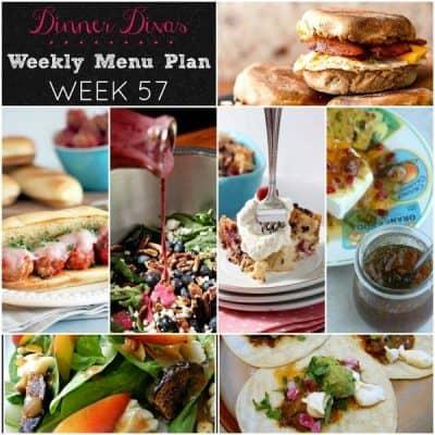 Dinner Divas Weekly Meal Plan, Week 57 | 5 Mains, 2 Extras