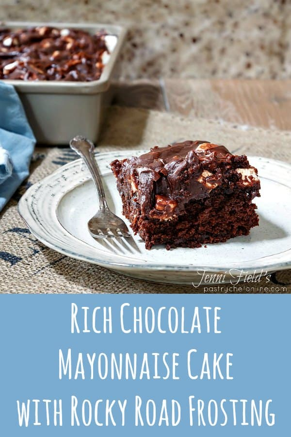 This moist and rich chocolate mayonnaise cake recipe boasts a thick layer of chocolate sour cream frosting with