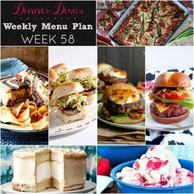 Dinner Divas Weekly Meal Plan, Week 58   5 Mains, 2 Extras