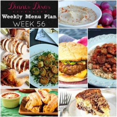 Dinner Divas Weekly Meal Plan, Week 56 | 5 Mains, 2 Extras