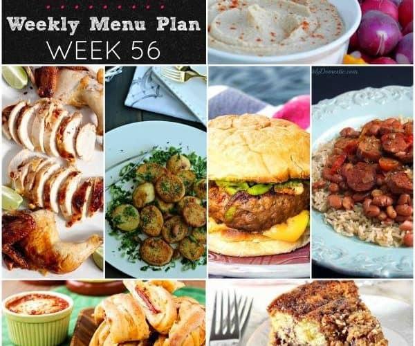 Dinner Divas Weekly Meal Plan, Week 56   5 Mains, 2 Extras