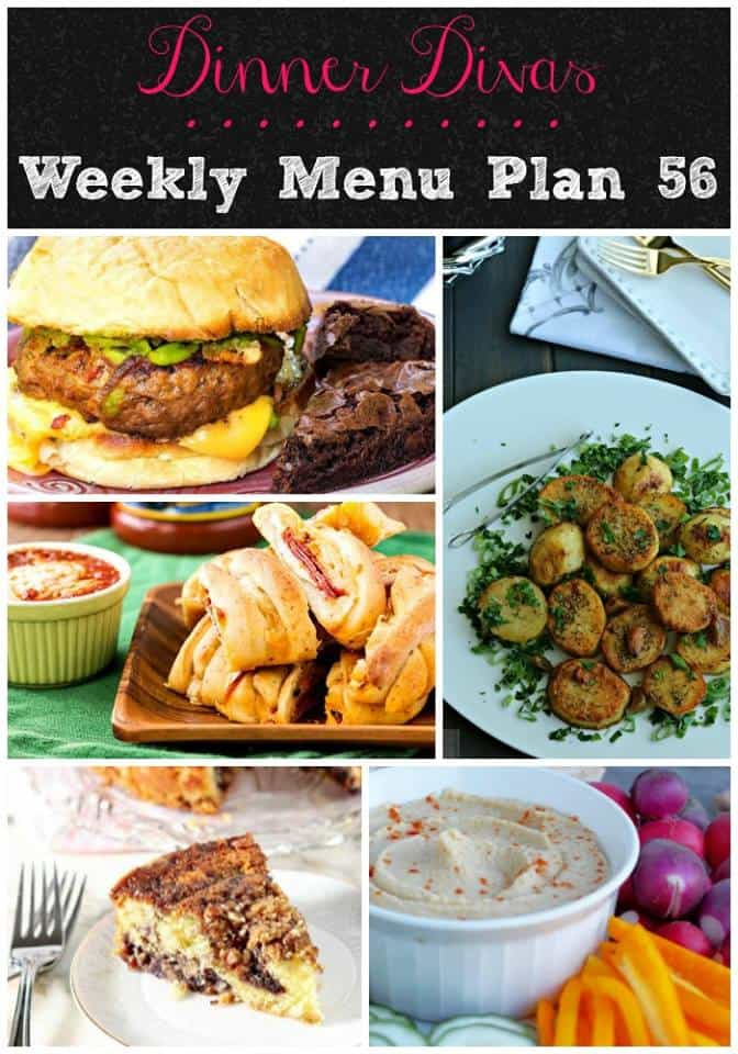 Dinner Divas weekly meal plan features easy meals for your family including a big juicy burger, a moist and flavorful beer can chicken, red beans and rice, and more. We hope these recipes help your menu planning and meal prep easier and that at least some of these recipes will become family favorites!