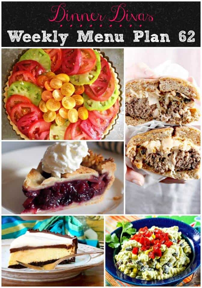 vertical collage of the recipes from this week's weekly meal plan post