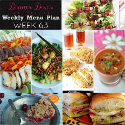 Dinner Divas Weekly Meal Plan, Week 63   5 Mains, 2 Extras