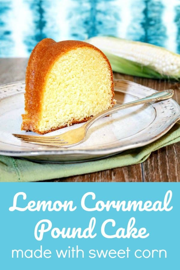 Lemon Corn Buttermilk Pound Cake is the very essence of summer. Sweet corn blended with buttermilk and then strained perfumes the cake with a sweet earthiness that plays very nicely with the lemon. This may just become your favorite pound cake recipe. Enjoy! #poundcake #buttermilkcake #corn | pastrychefonline.com