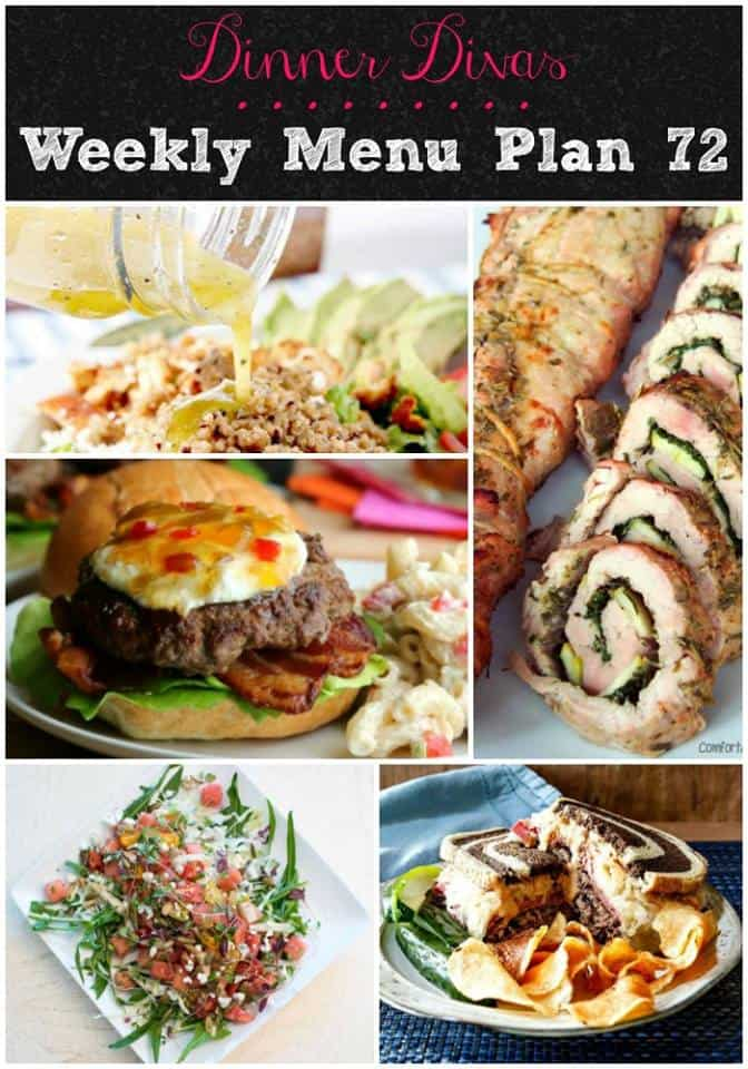 Our weekly meal plan for week 72 is up and features some meaty dishes balanced with vegetarian ones. And our extras will make the whole family happy! Enjoy! | pastrychefonline.com