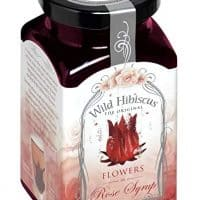 Hibiscus Flower In Rose Syrup - 12.3 ounce unit - 15 Flowers Per Jar