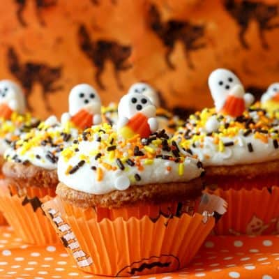 Candy Corn Cupcakes for #HalloweenTreatsWeek
