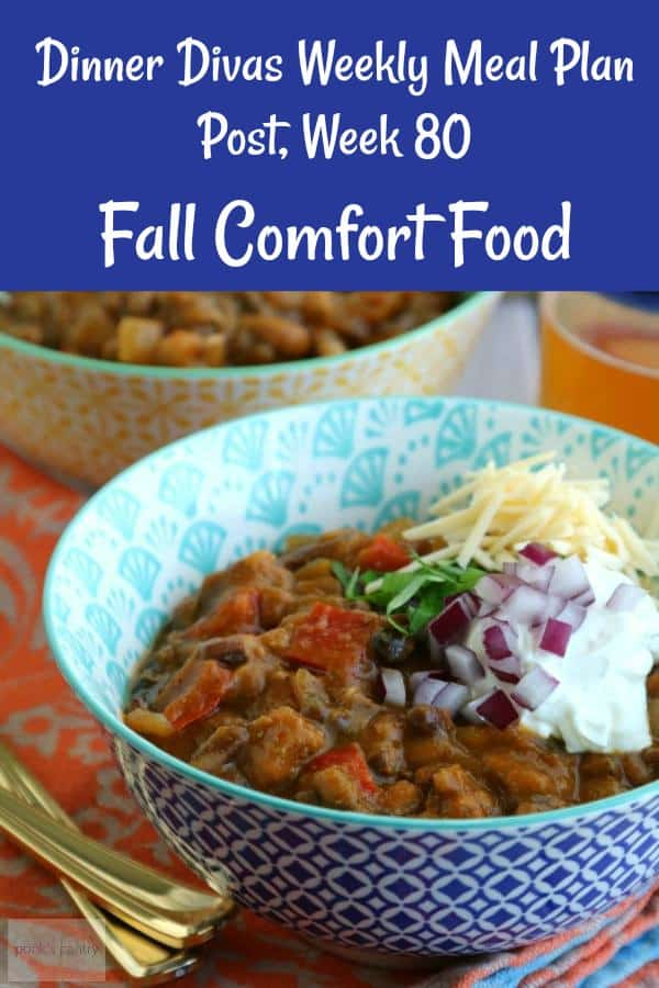 Are you ready for fall comfort food? I know I am! You'll get a ton of warming stews and slow cooker classics this week from our weekly meal plan. Chili, chicken and dumplings, a takeout favorite, Indian lamb stew, and more to help with your weekly meal planning. #mealplan #recipes #easydinnerrecipes | pastrychefonline.com