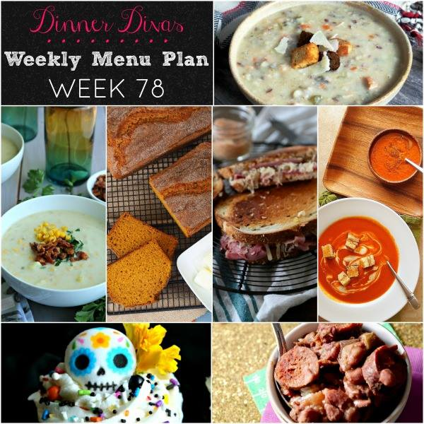 square collage image of recipes in our weekly meal plan post